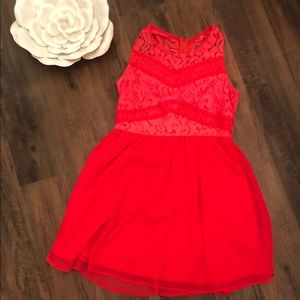 Neon Coral Cocktail dress